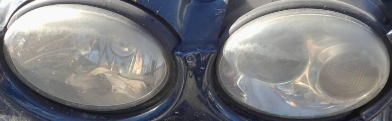 Lampa przednia Jaguar przed polerowaniem